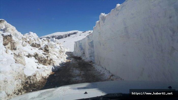 Bayburt Trabzon arasında bu yol 6 ay ulaşıma kapalı