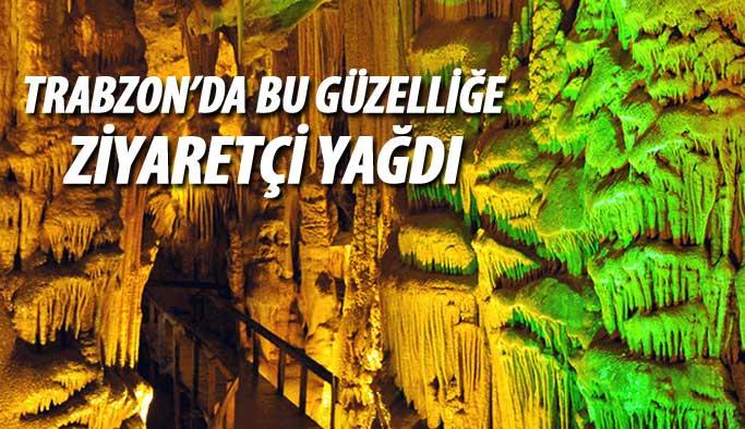 Trabzon'da Çal Mağarası'na ziyaretçi yağdı