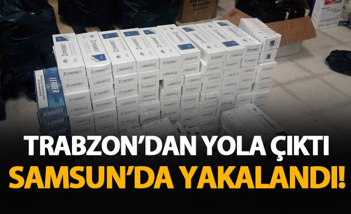 Trabzon'dan yola çıktı Samsun'da yakalandı!
