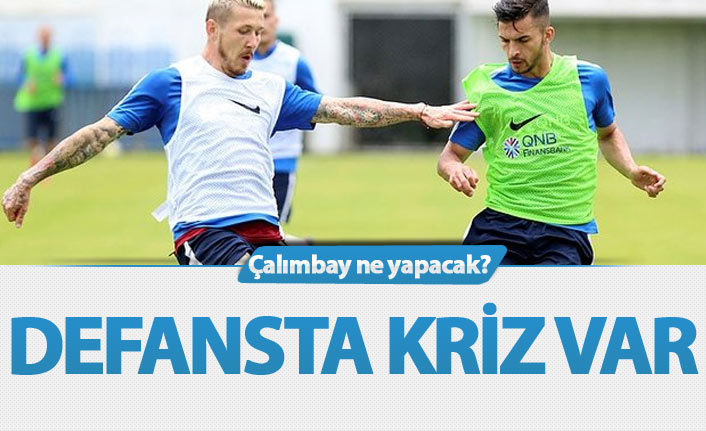 Trabzonspor'un defansında sıkıntı büyük