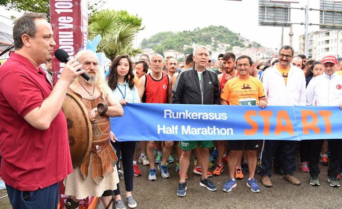 Giresun'da yarı maraton yapıldı