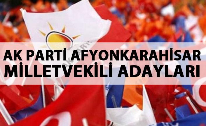 AK Parti Afyonkarahisar 24 Haziran 2018 milletvekili adayları listesi...