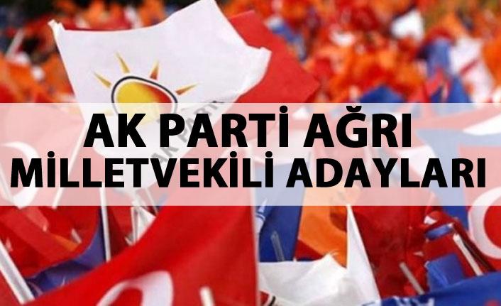 AK Parti Ağrı milletvekili adayları listesi...