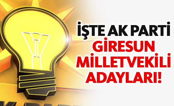 AK Parti Bayburt 24 Haziran 2018 milletvekili adayları listesi... İşte adaylar