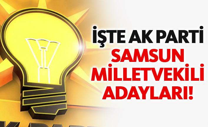 AK Parti Samsun 24 Haziran 2018 milletvekili adayları listesi... İşte adaylar