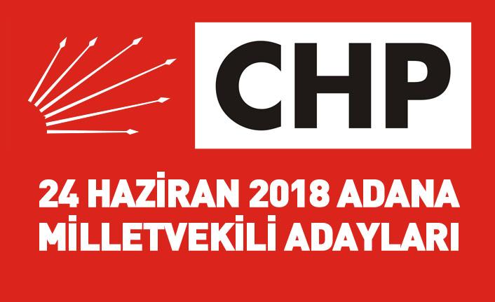 CHP Adana 24 Haziran 2018 milletvekili adayları listesi... İşte adaylar