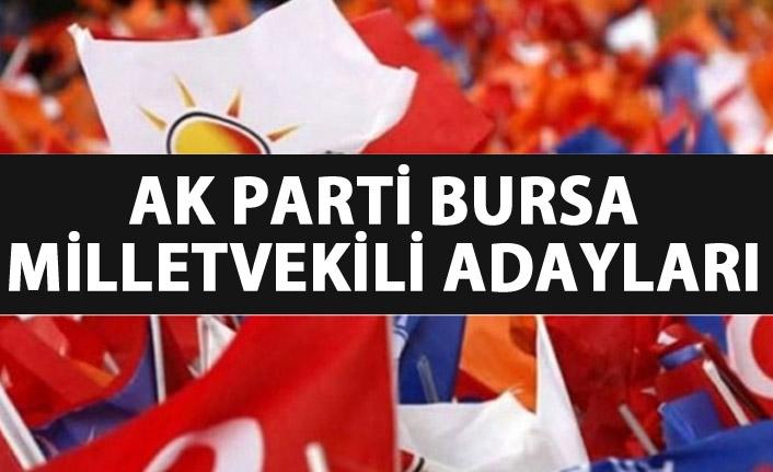 AK Parti Bursa 24 Haziran 2018 milletvekili adayları listesi... İşte adaylar