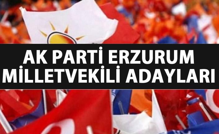 AK Parti Erzurum milletvekili adayları listesinde hangi isimler var?