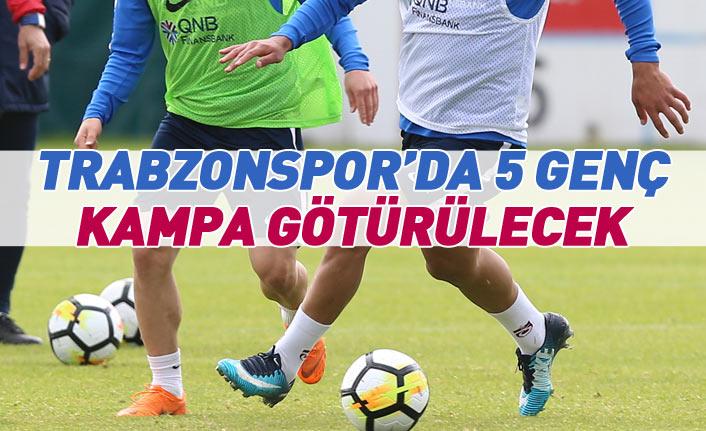 Trabzonspor'da 5 genç futbolcu kampa götürülecek