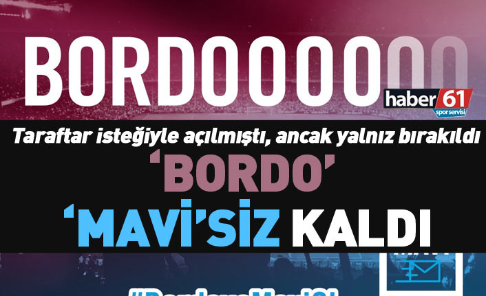 Trabzonspor'da SMS kampanyası ilgisiz kaldı