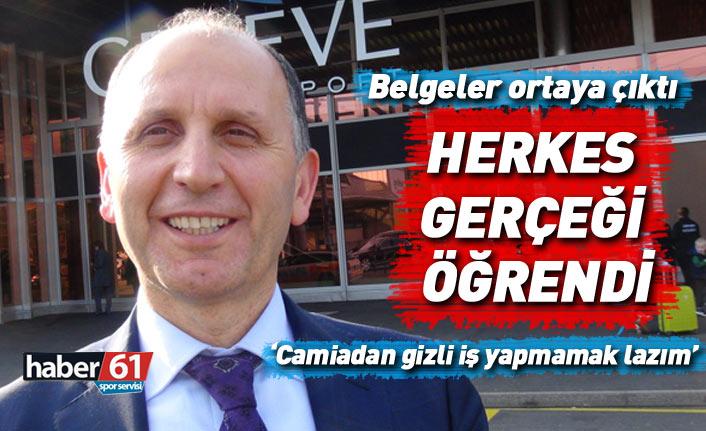 Trabzonspor'da belgeler ortaya çıkınca herkes gerçeği öğrendi