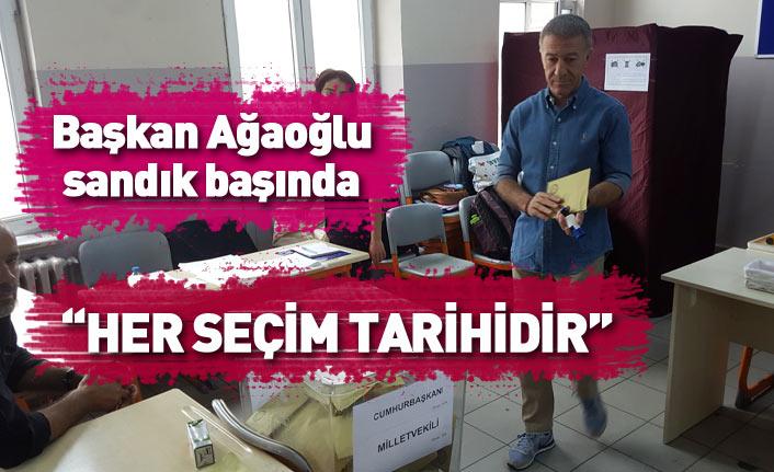 Trabzonspor Başkanı Ağaoğlu oyunu kullandı