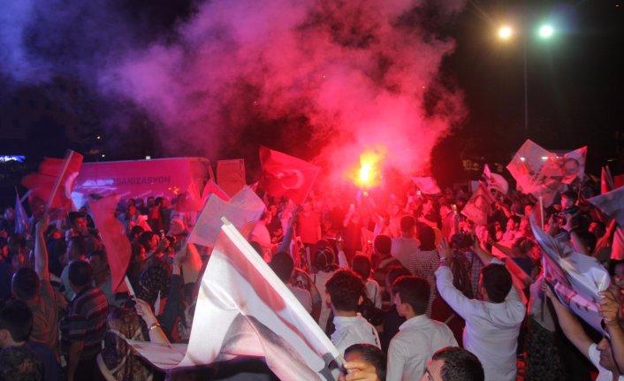 Ordu'da AK Parti'li ve MHP'lilerden seçim kutlaması