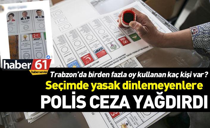 Trabzon'da birden fazla oy kullanan ve fotoğraf çekenler yakalandı