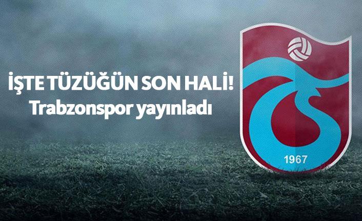 Trabzonspor tüzüğün son halini yayınladı