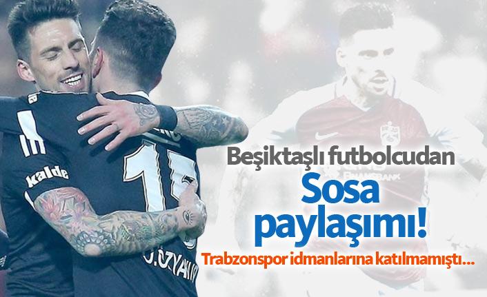 Beşiktaşlı futbolcudan Sosa paylaşımı