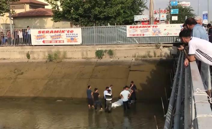 Sulama kanalına giren kişi boğuldu