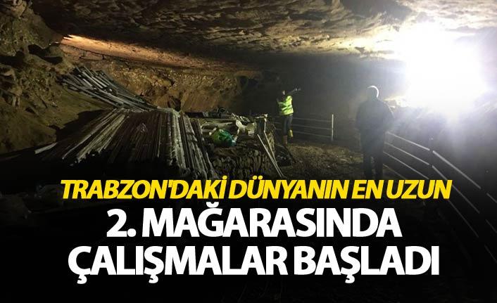 Trabzon'daki dünyanın en uzun 2. mağarasında çalışmalar başladı