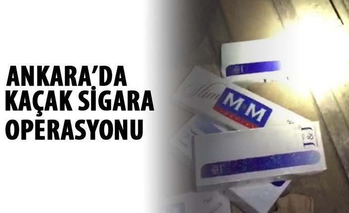 Ankara'da kaçak sigara operasyonu