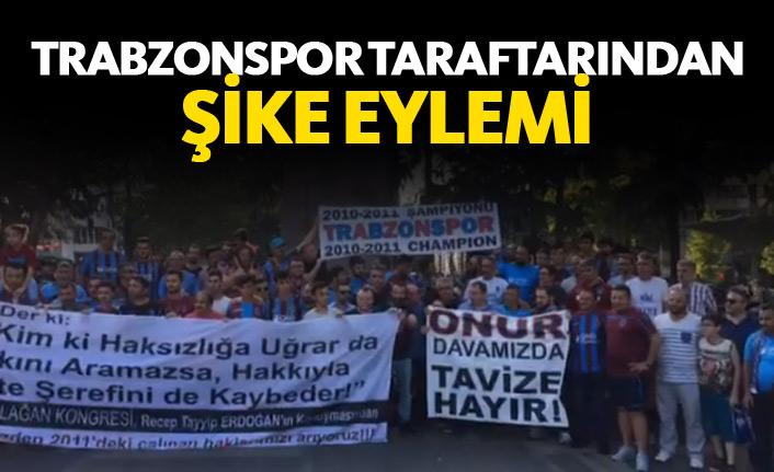 Trabzonspor taraftarı şike eylemi düzenledi