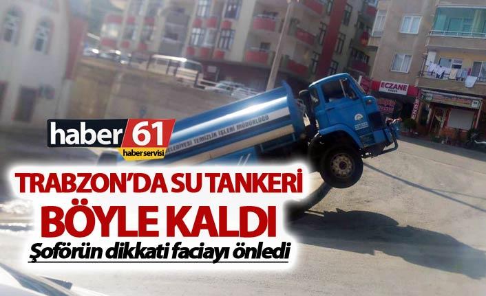 Trabzon'da faciadan dönüldü - Tanker...