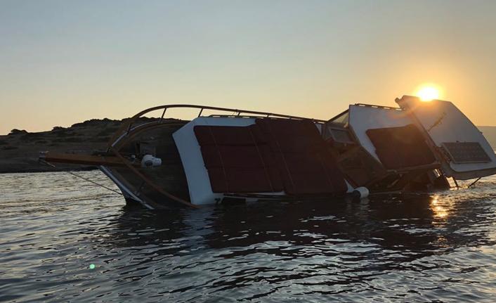Bodrum'da tur teknesi karaya oturdu