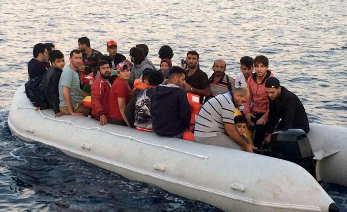 Lastik botta 11'i çocuk 37 kaçak yakalandı