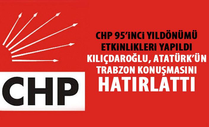 CHP'nin 95'inci kuruluş yıl dönümü etkinlikleri düzenlendi