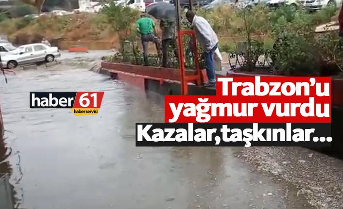 Trabzon'u yağmur vurdu