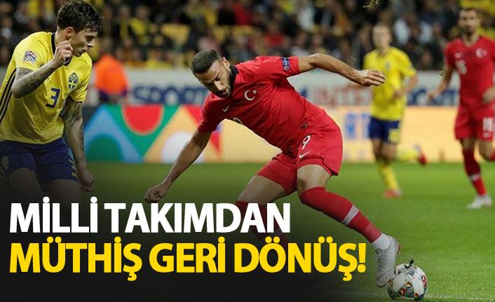 Milli takımdan müthiş geri dönüş! İsveç Türkiye maç özeti