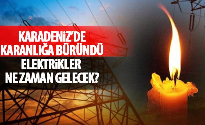 Karadeniz'de elektrikler kesildi! Trabzon'da elektrikler ne zaman gelecek?