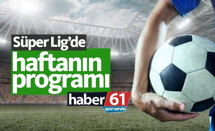Süper Lig'de haftanın programı ve Süper Lig puan durumu