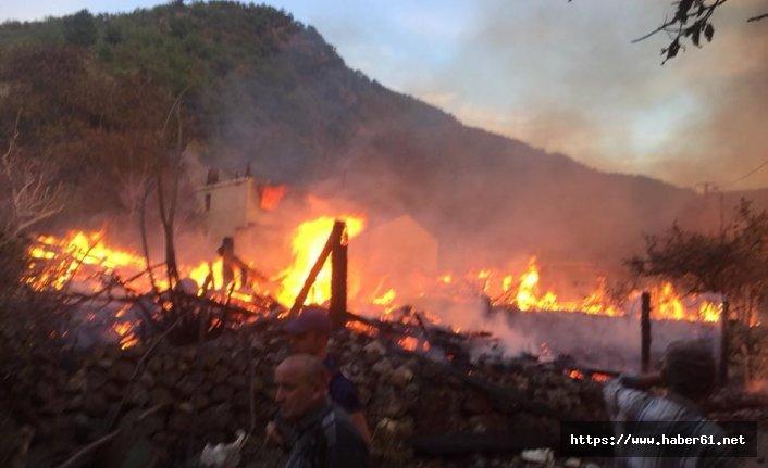 Yangın 8 evi kül etti