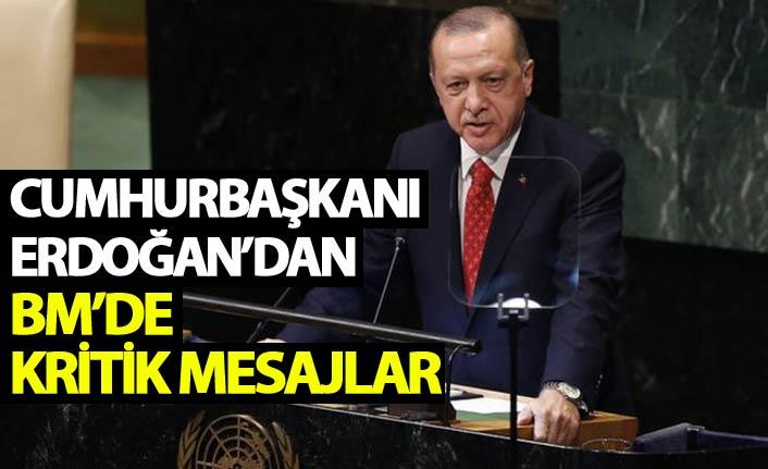 Cumhurbaşkanı Erdoğan'dan BM Zirvesi'nde kritik açıklamalar