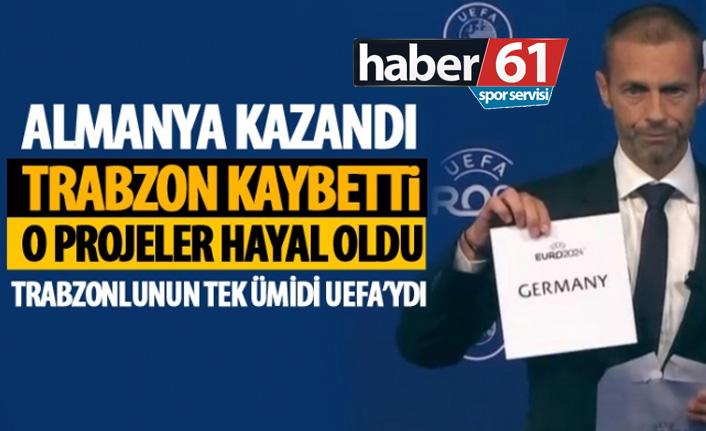Almanlar kazandı Trabzon kaybetti! O projeler hayal oldu!