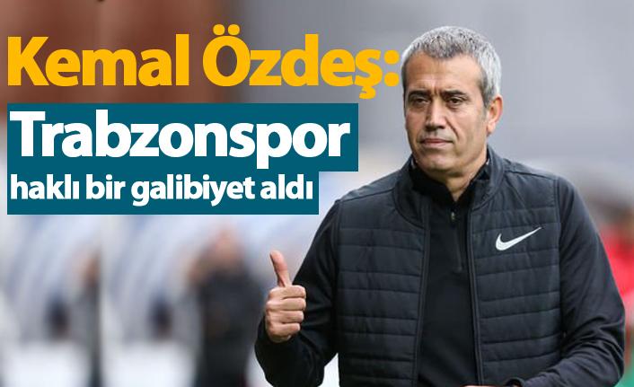 """Özdeş: """"Trabzonspor haklı bir galibiyet aldı"""""""