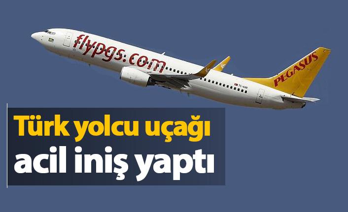Türk Yolcu uçağı acil iniş yaptı