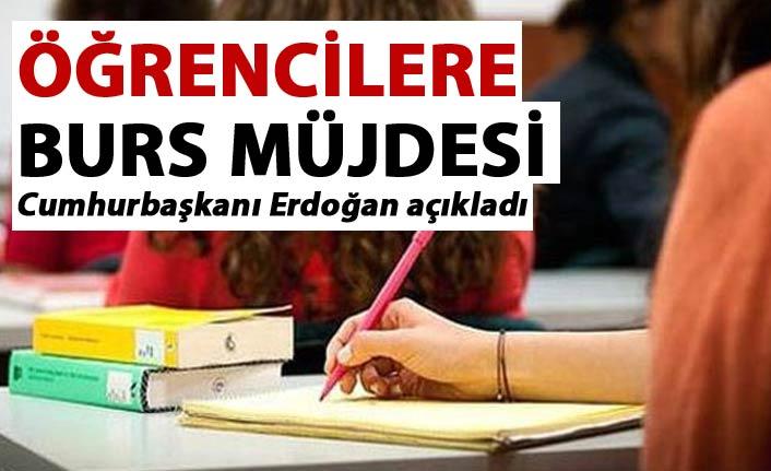 Cumhurbaşkanı Erdoğan Burs ücretlerini açıkladı