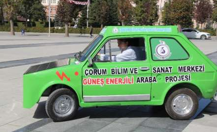 Hurda araçtan güneş enerjili otomobil
