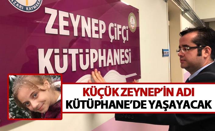 Trabzon'da küçük Zeynep'in adı kütüphanede yaşayacak