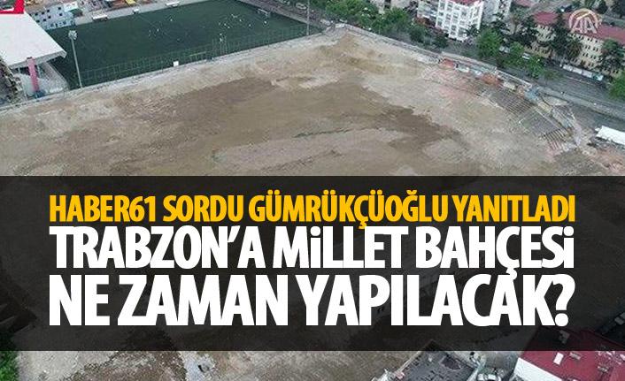 Trabzon'a Millet Bahçesi ne zaman yapılacak? Haber61 sordu Gümrükçüoğlu yanıtladı
