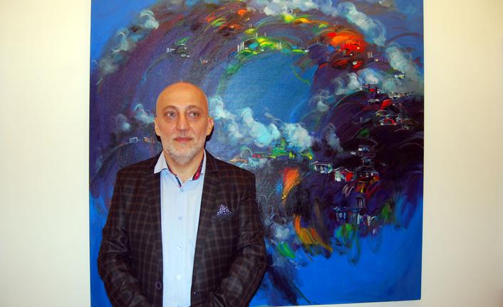 Trabzonlu Ressam Ekrem Mutlu: 'Resimlerimde Karadeniz var'