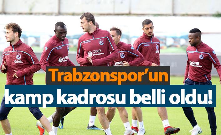 Trabzonspor Akhisar maçı kamp kadrosu belli oldu!