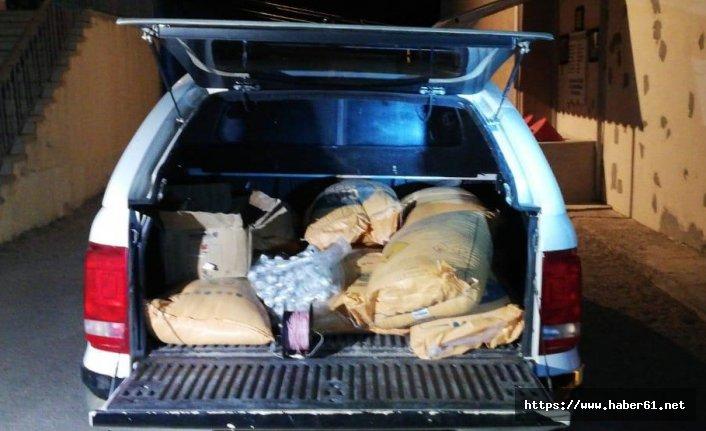 Gümüşhane'de araç arkasında 40 kilo dinamit yakalandı