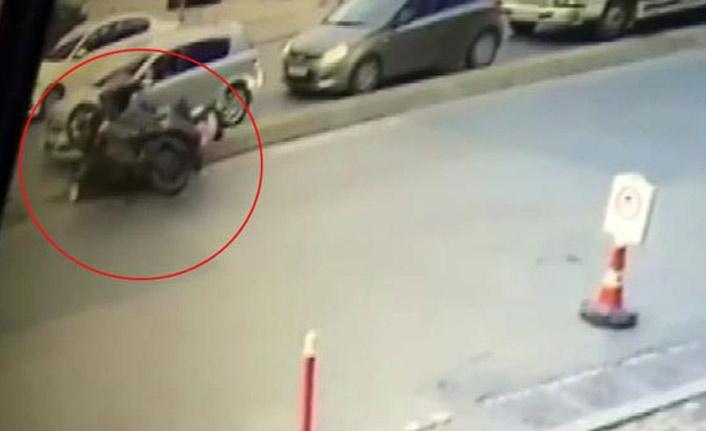 Ümraniye'de feci motosiklet kazası!