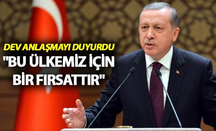 """Cumhurbaşkanı Erdoğan: """"Bu ülkemiz için bir fırsattır"""""""