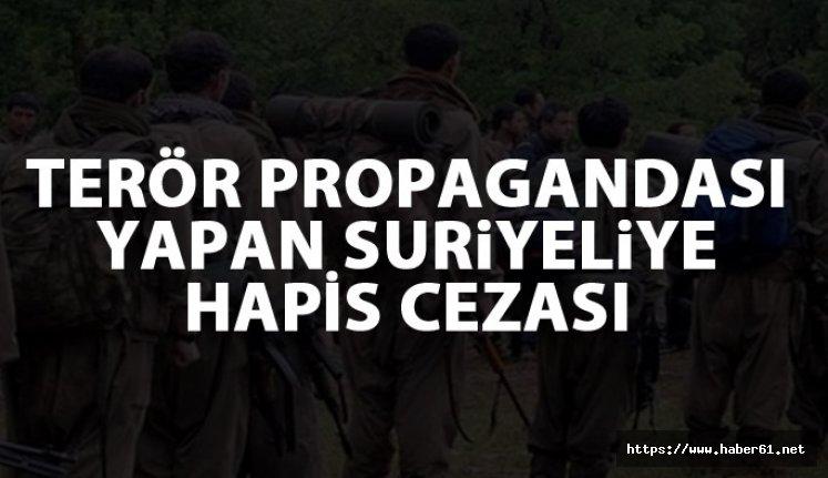 Trabzon'da terör propagandası yapan Suriyeliye hapis cezası