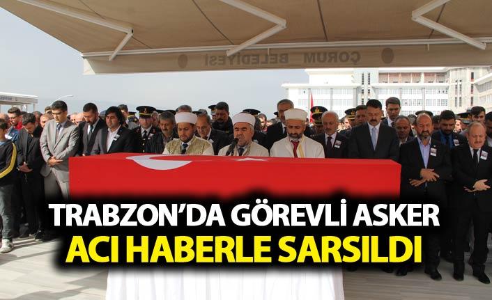 Trabzon'da görevli komutanın yeğeni şehit oldu