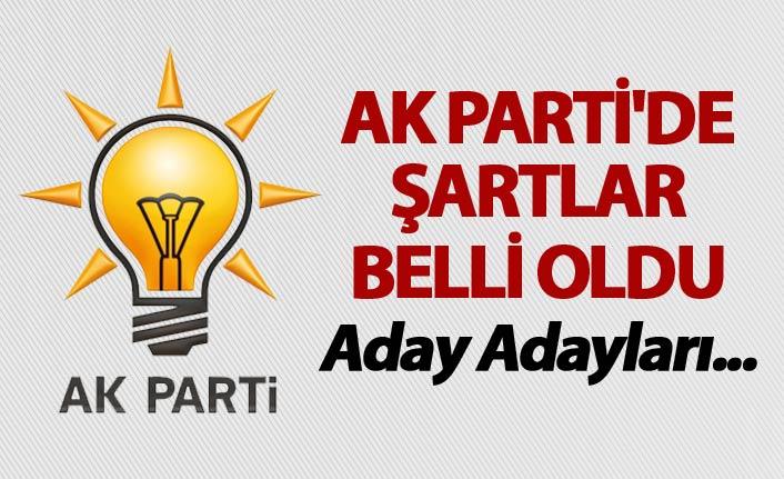 AK Parti'de şartlar belli oldu - Aday Adayları