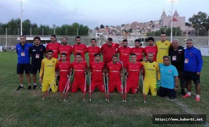 Ampute Futbol Milli Takımı namağlup finalde